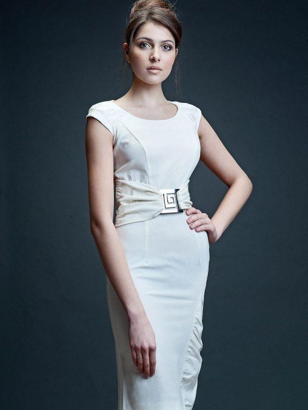Bianka dress in ecru