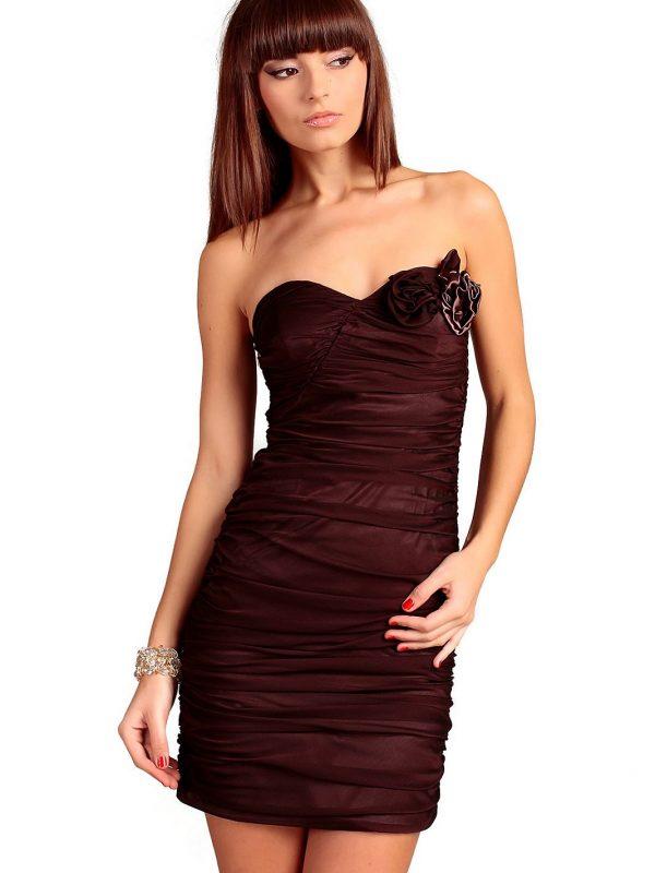 Sukienka Brigitte w kolorze brązowym