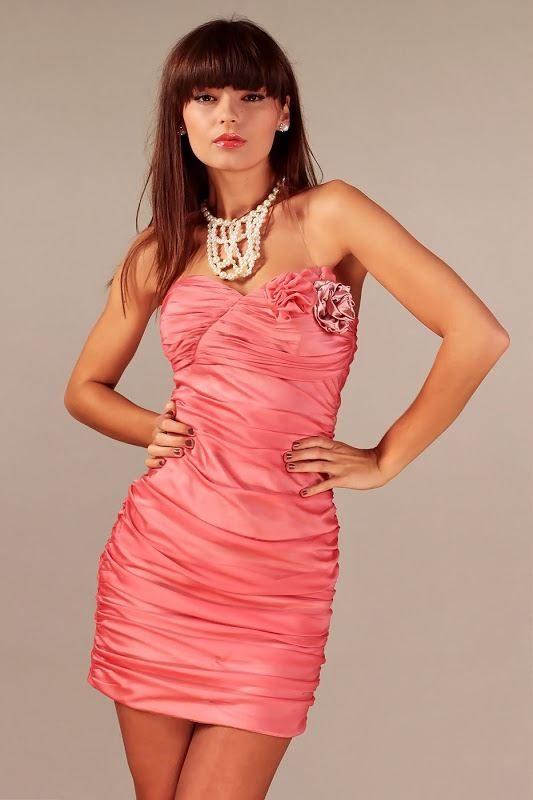 Brigitte's dress in salmon color