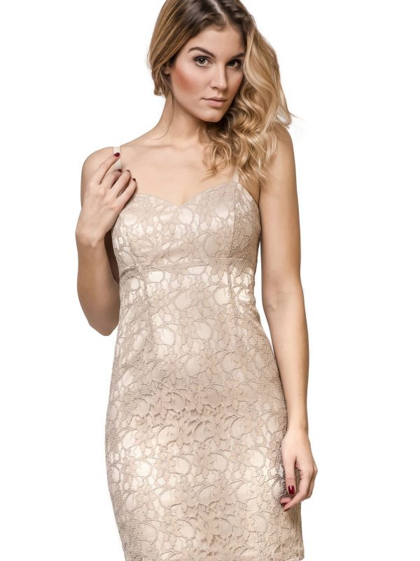 Sukienka Doris w kolorze beżowym