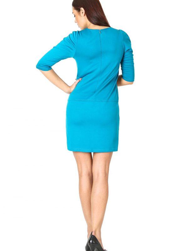 Elena dress, blue color