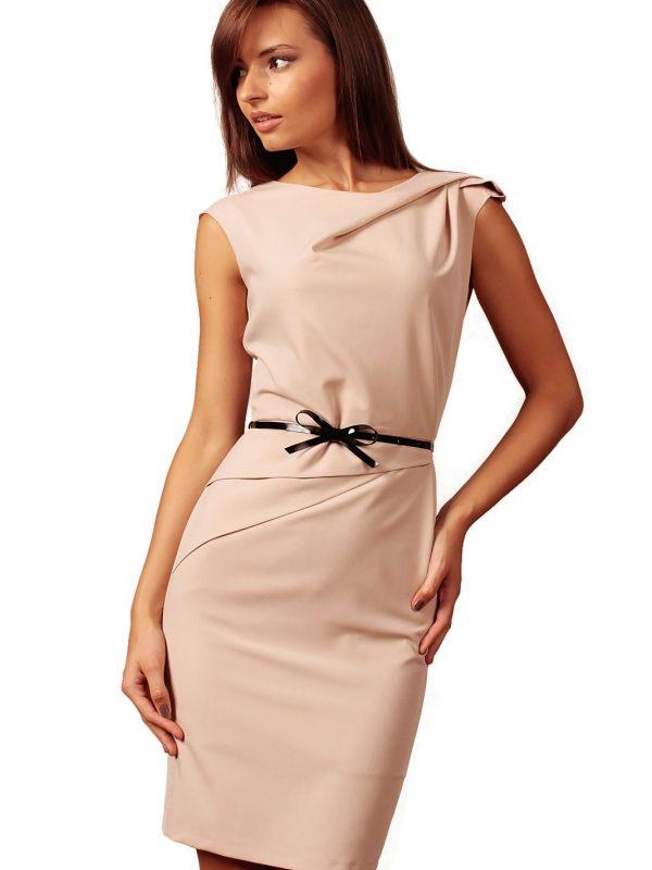 Sukienka Estera w kolorze cappucino