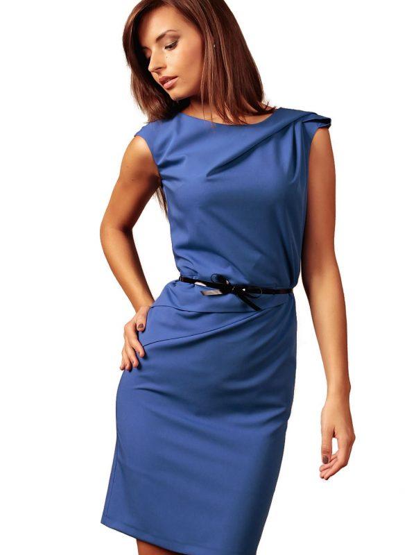 Sukienka Estera w kolorze chabrowym