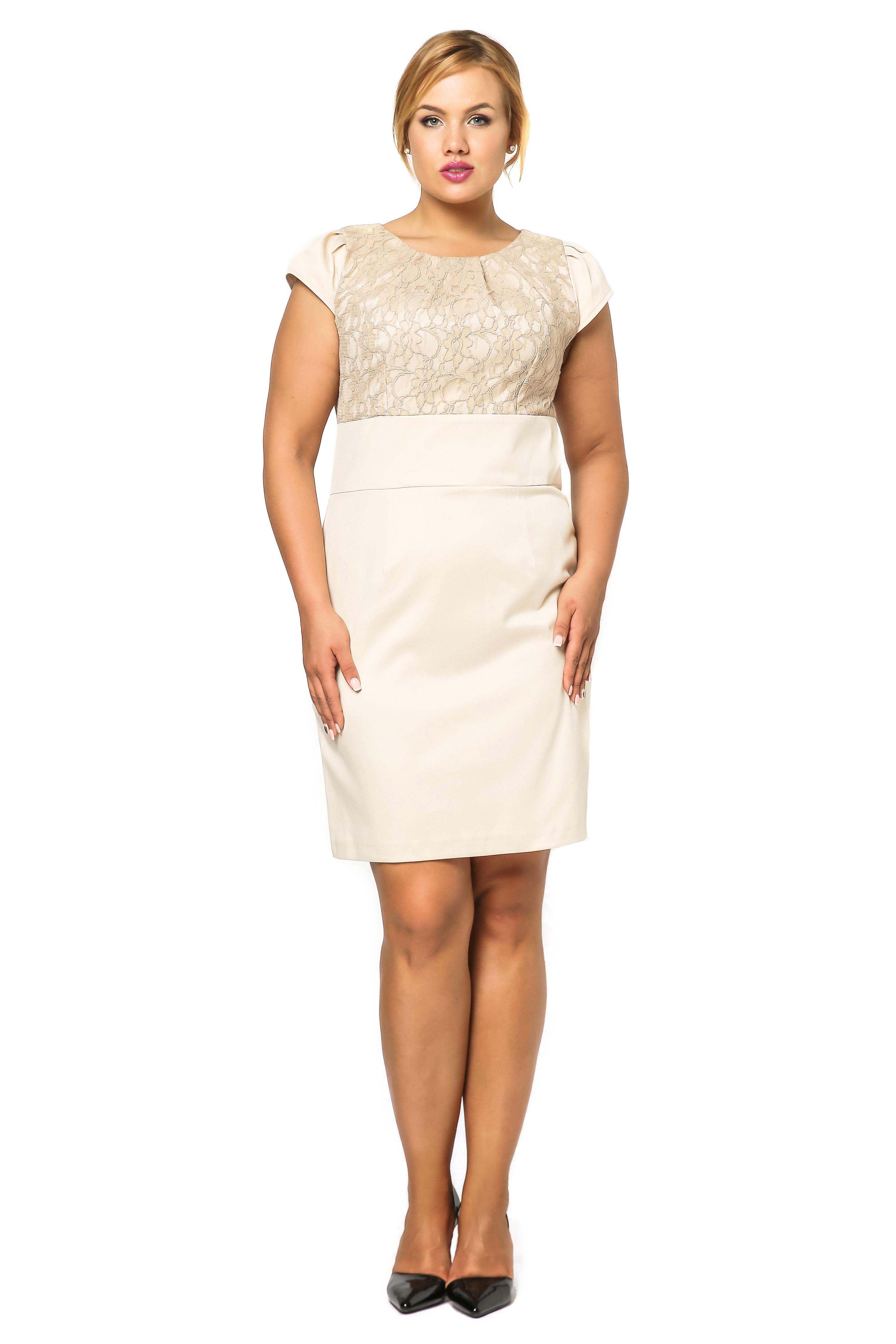 Sukienka Gabi Lace w kolorze beżowym