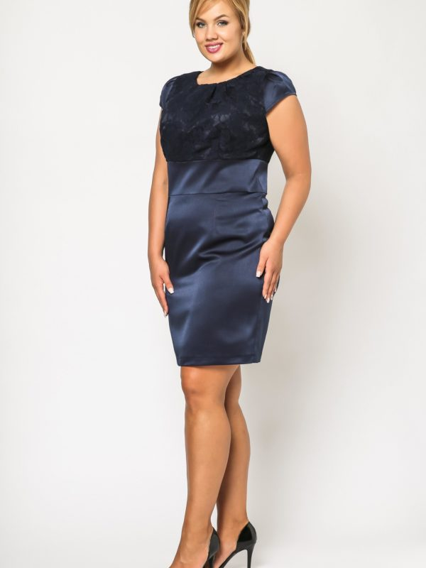 Dress Gabi Lace in navy blue