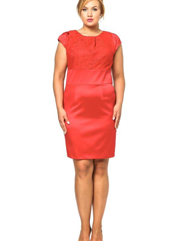 Gabi Lace dress in red