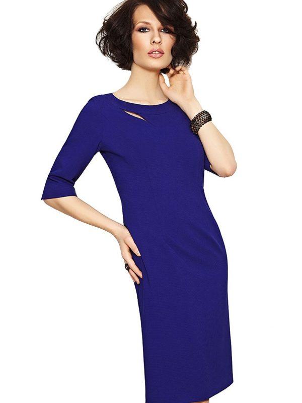 Sukienka Inga w kolorze chabrowym