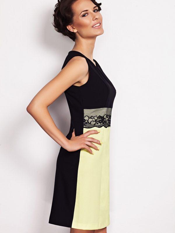 Sukienka JASMINE w kolorze limonka