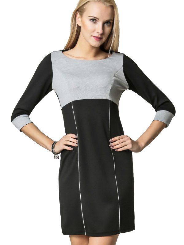 Sukienka Jeanette w kolorze szaro-czarnym