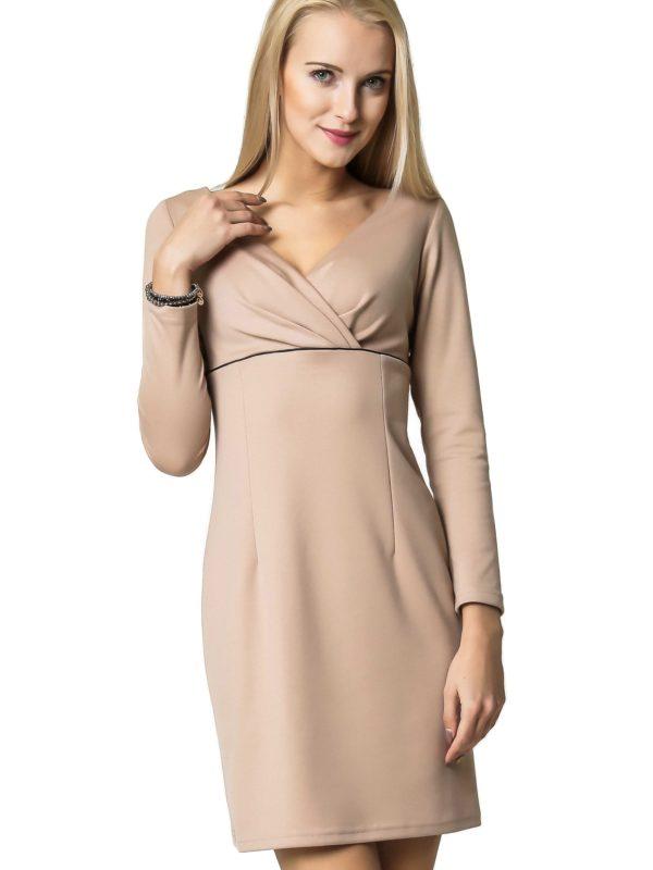 Sukienka Marie Knitwear w kolorze beżowym