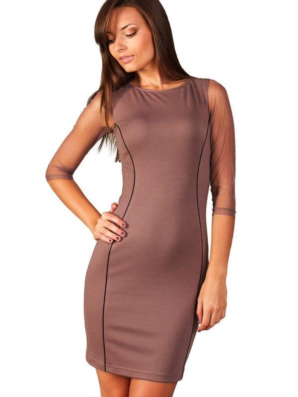Sukienka Mirelle w kolorze beżowym