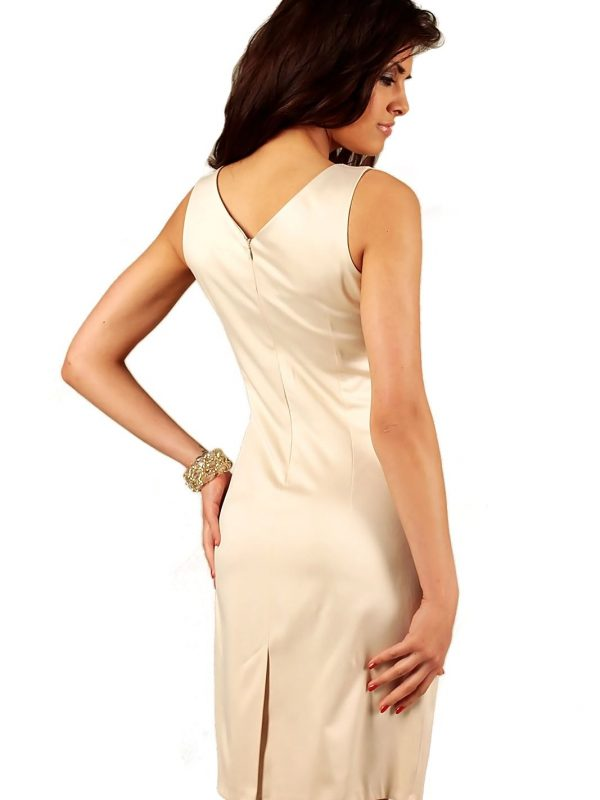 Beige Oriana dress with lace