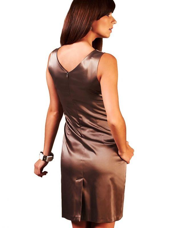 Oriana brown dress with ecru
