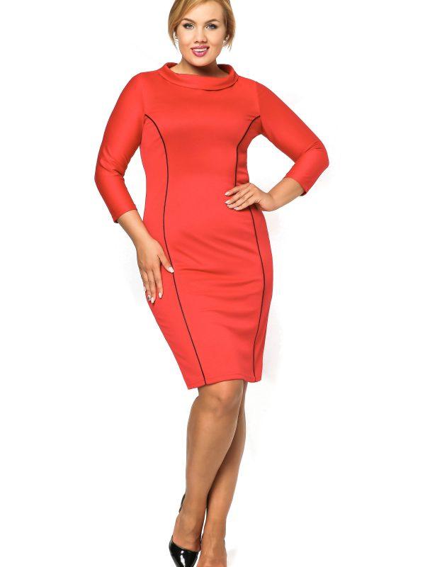 Sukienka Pauline w kolorze czerwonym