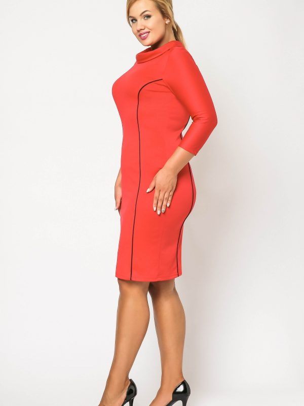 Pauline dress in red