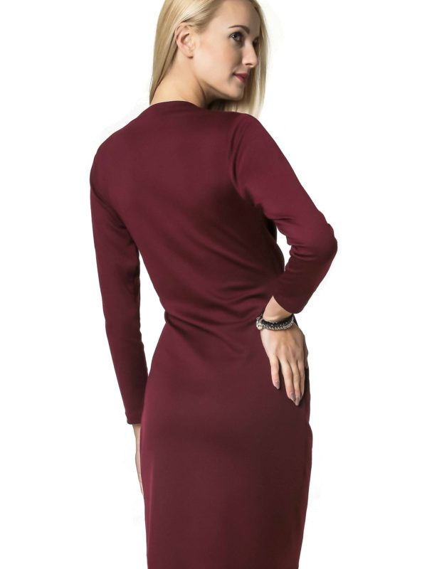 Rebeka dress in burgundy
