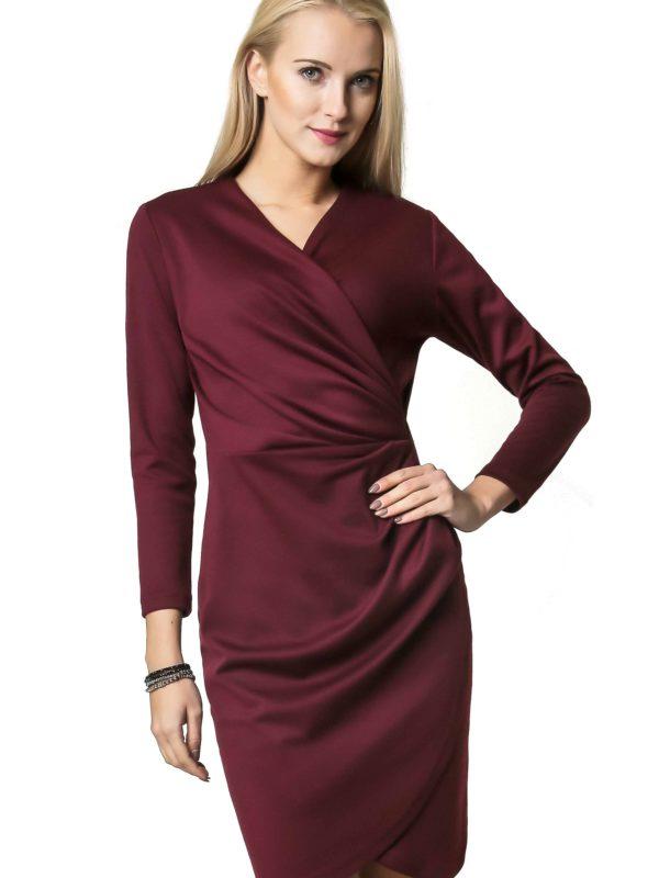 Sukienka Rebeka w kolorze bordowym
