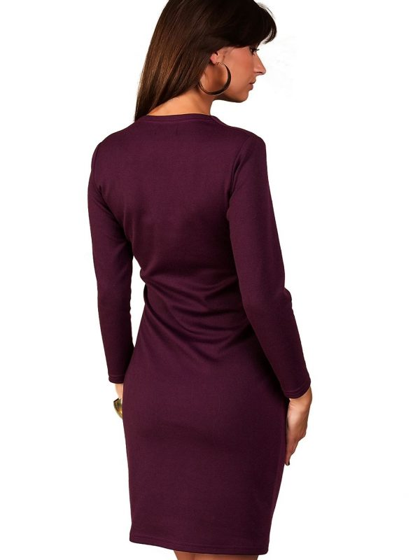 Rebeka dress in plum color