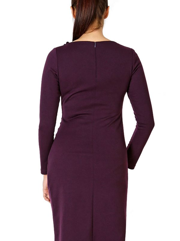 Sara dress, plum color