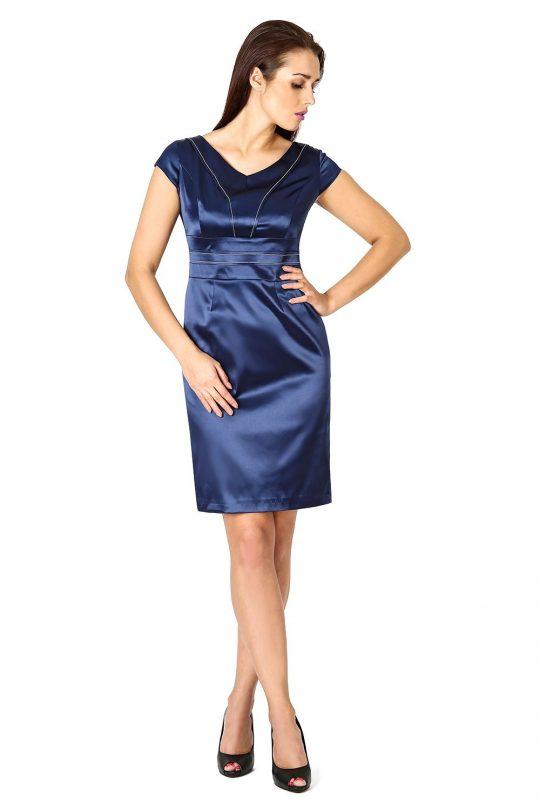 Tamara dress in navy blue