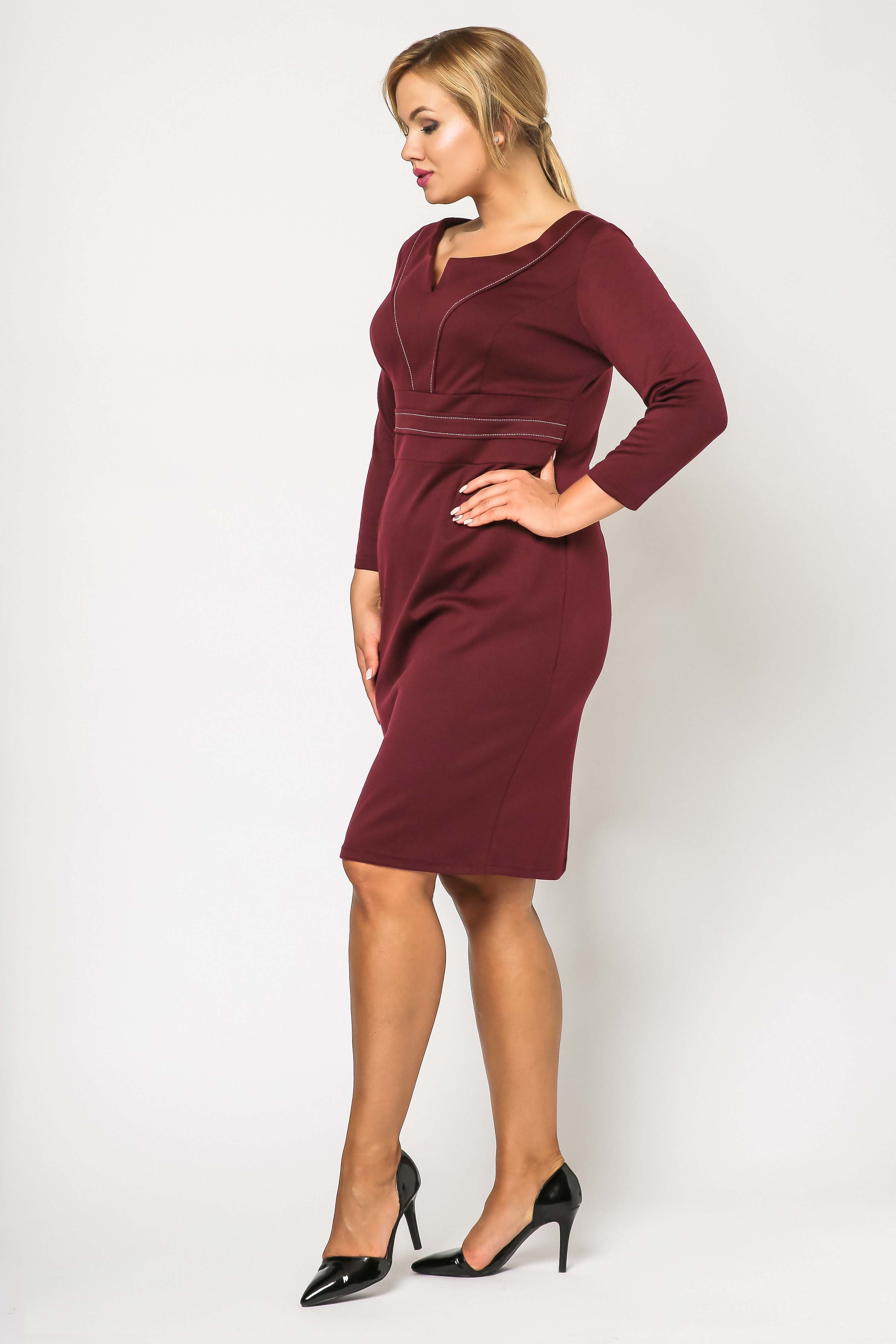 Tamara Knitwear dress, burgundy