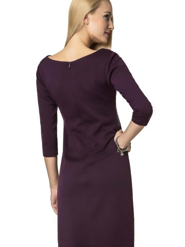Tanya dress in plum color