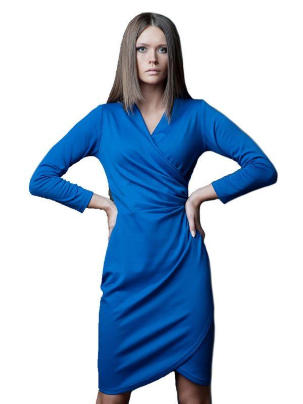 Sukienka Rebeka w kolorze chabrowym