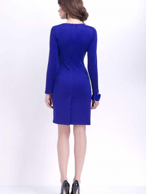 Agnes dress in cornflower blue