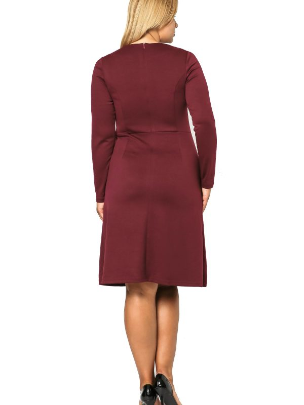 Alice burgundy dress