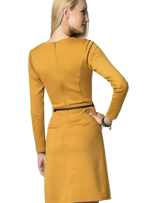 Angela dress in honey color