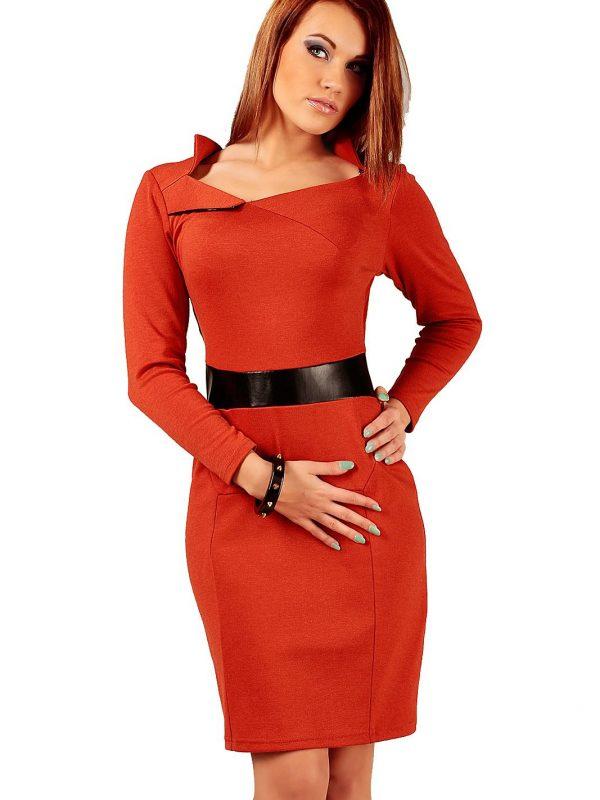 Sukienka Astrid w kolorze rudym