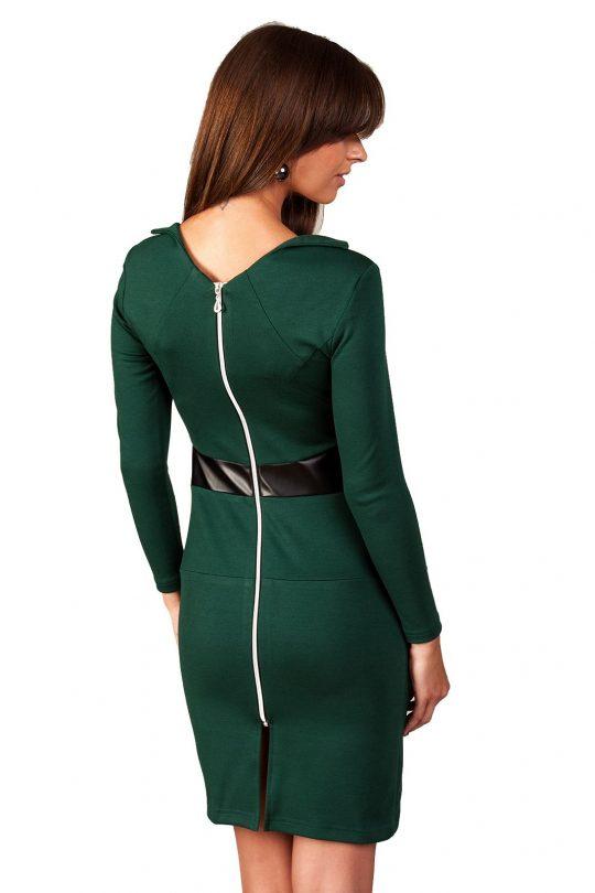 Astrid dress in dark green color