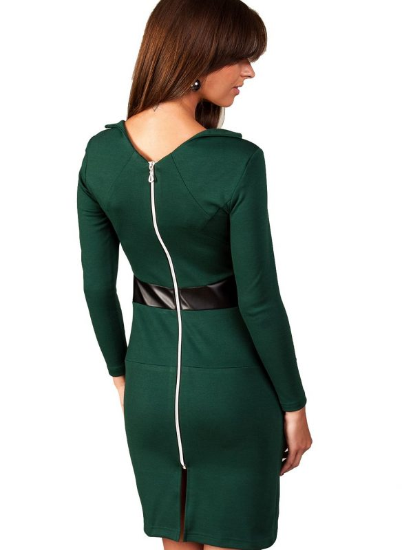 Astrid dress in dark green color