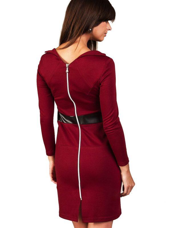 Astrid dress, burgundy
