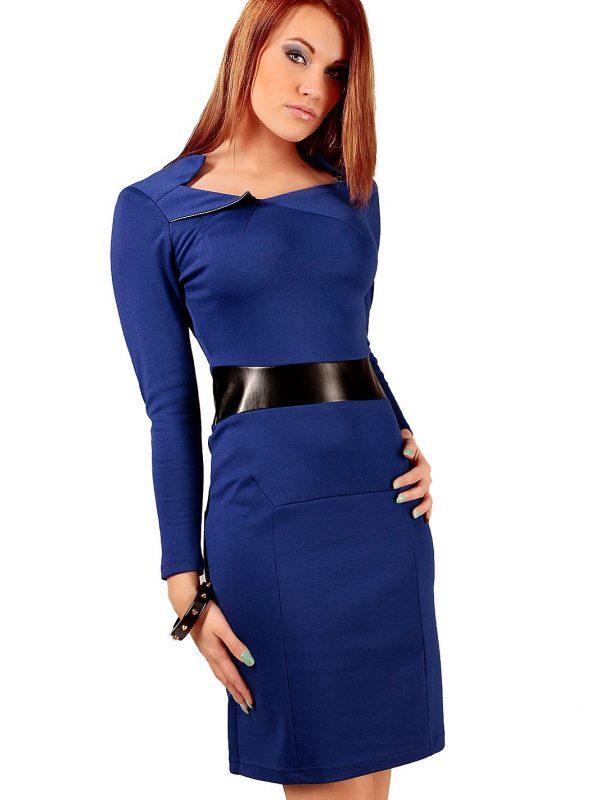 Sukienka Astrid w kolorze szafirowym