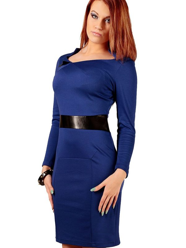 Astrid dress in sapphire color