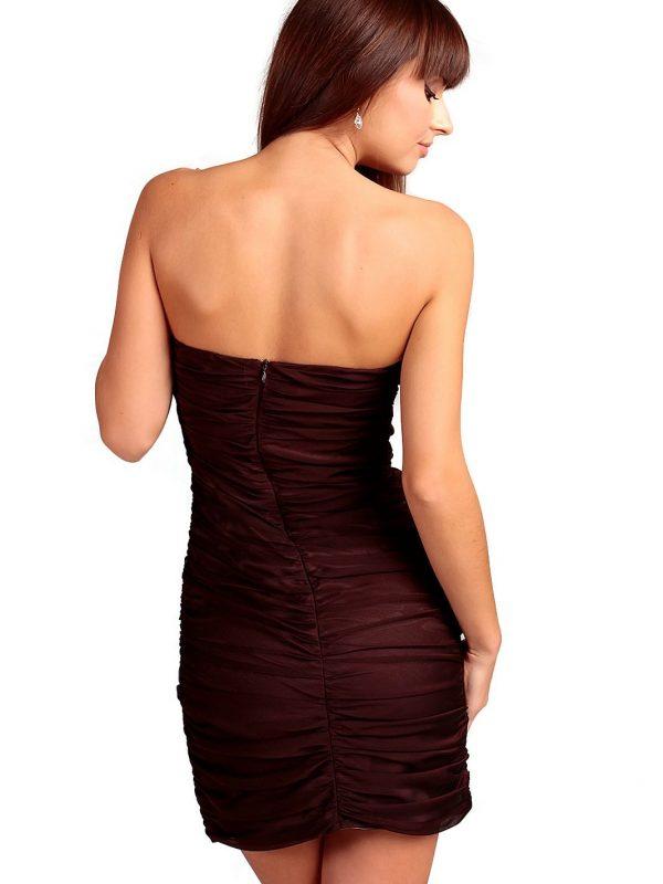 Brigitte Dress in brown