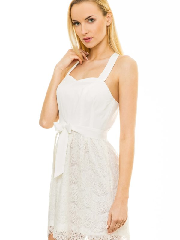 Caroline dress in off white color