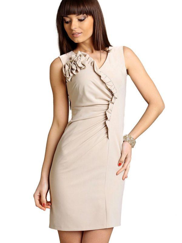 Sukienka Chantale w kolorze beżowym
