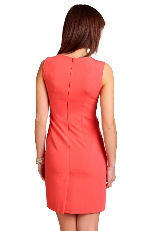 Chantale Dress in Coral color