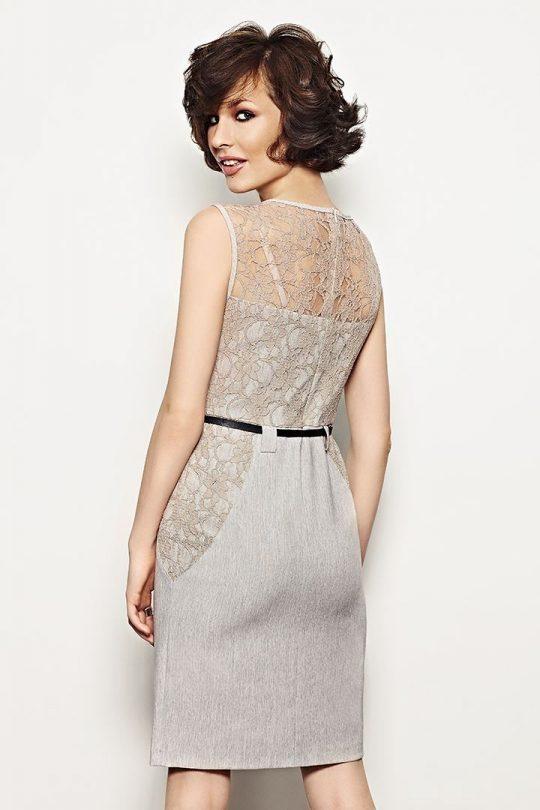 Daria Dress in Grey