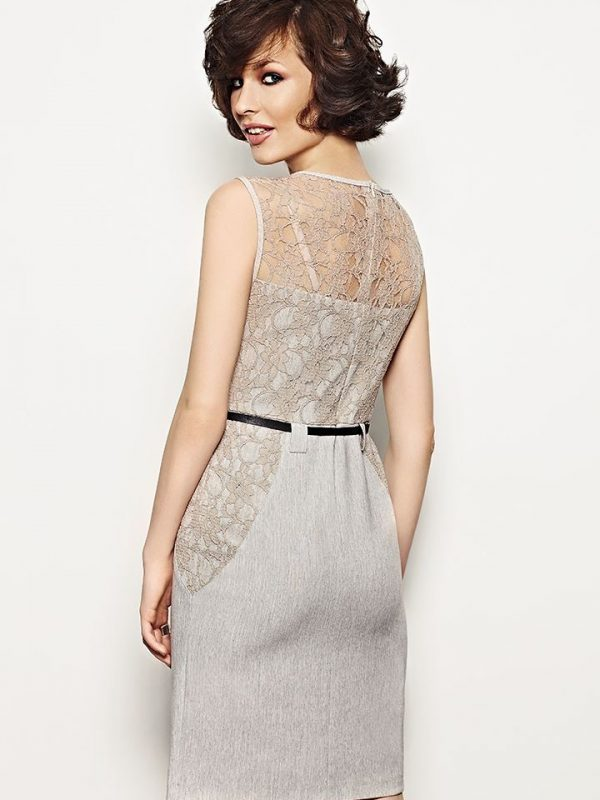 Daria Dress in Grey