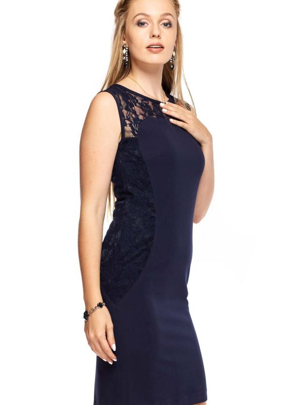 Diana dress in navy blue