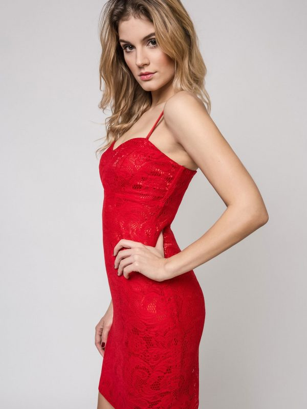 Doris Dress in red
