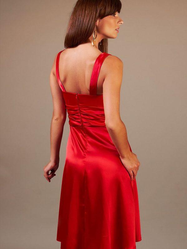 Dress Edyta in red