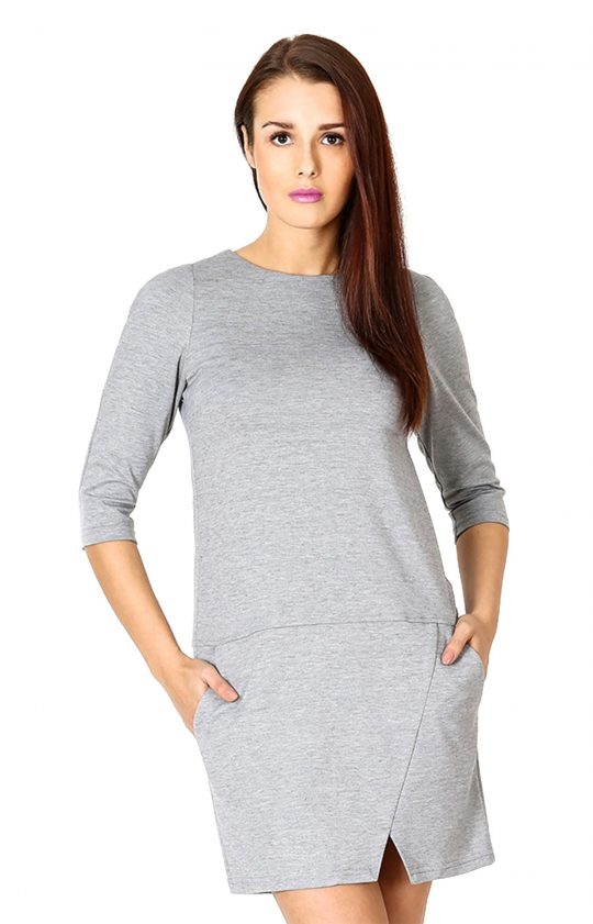 Elena Grey Dress