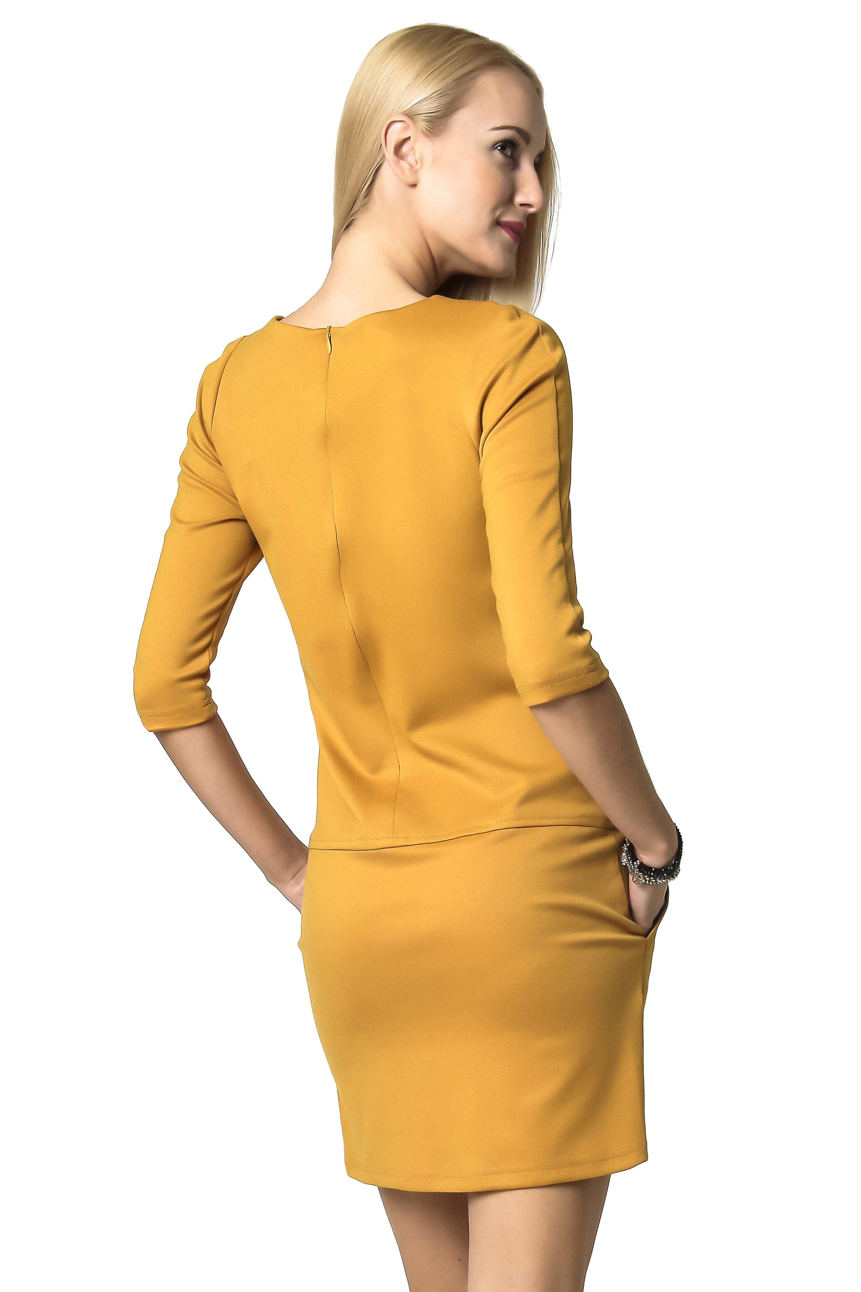 ELENA dress in honey color