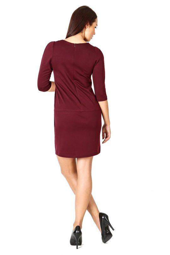 Elena dress, burgundy