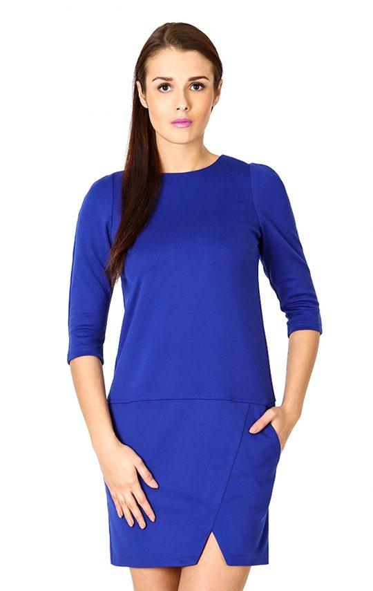 Elena dress in sapphire color