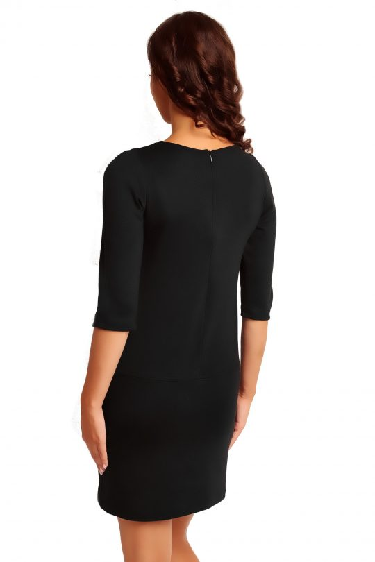 Dress ELENA TRIMMED in black